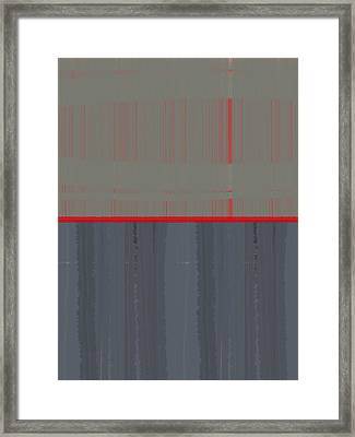 Red Stripe Framed Print