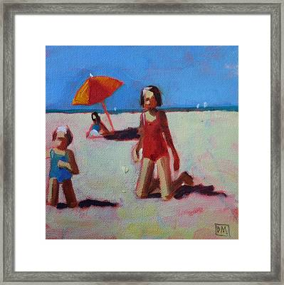 Red Suit Framed Print by Debbie Miller