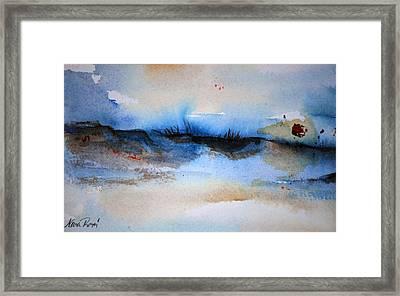 Red Sun Beach Framed Print by Neva Rossi