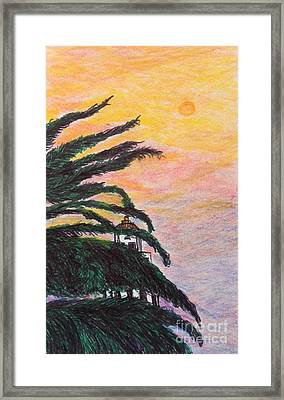 Red Sun Over Beverly Hills  Framed Print