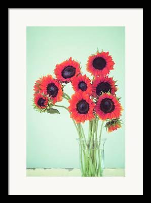 Large Sunflower Framed Prints