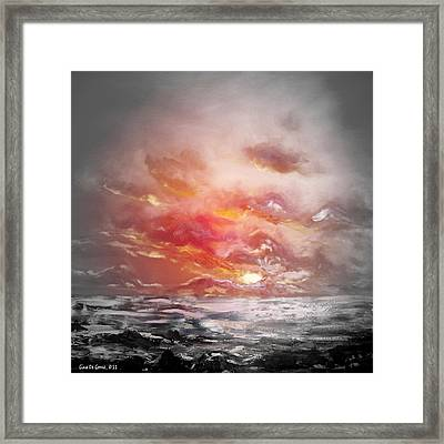 Red Sunset 77 Framed Print by Gina De Gorna