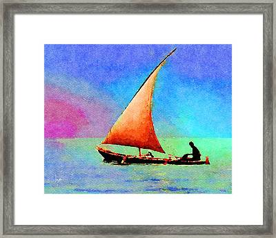 Framed Print featuring the painting Red Sunset by Angela Treat Lyon