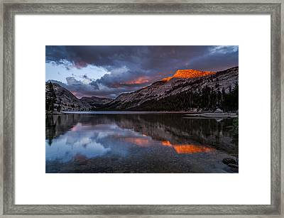 Red Sunset At Tenaya Framed Print by Cat Connor
