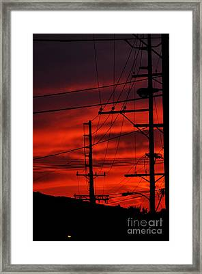 Red Sunset  Framed Print by Clayton Bruster