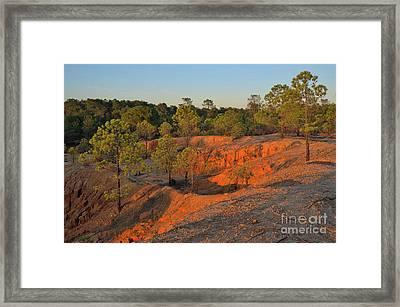Red Sunset Cliffs Framed Print