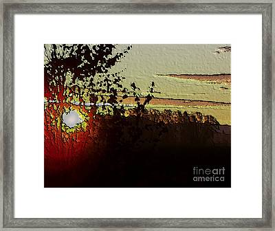 Framed Print featuring the photograph Red Sunset by Erica Hanel