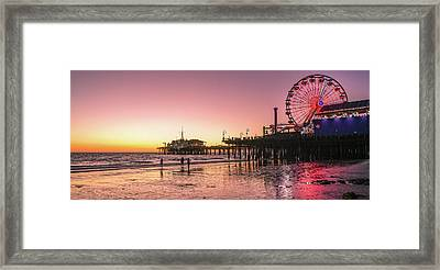 Red Sunset In Santa Monica Framed Print