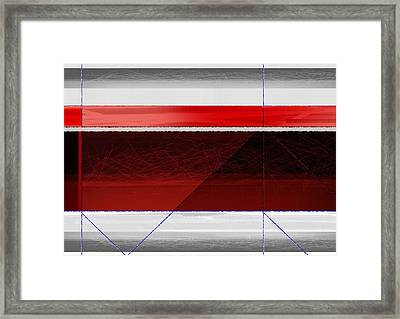 Red Sunset Framed Print