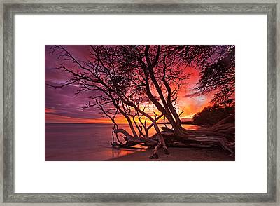 Red Sunset Framed Print by James Roemmling