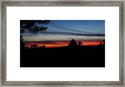 Red Sunset Strip Framed Print