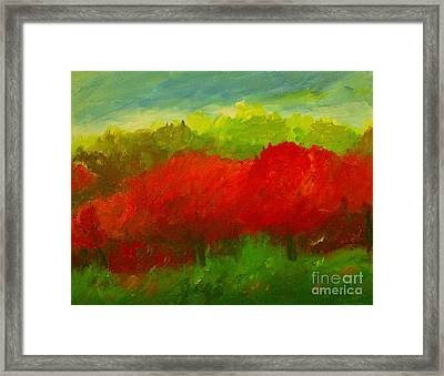 Red Sweet Cherry Trees Framed Print by Julie Lueders