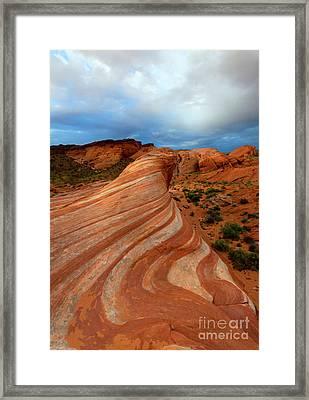 Red Swirl Framed Print by Mike Dawson