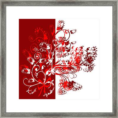 Red Swirl Framed Print by Svetlana Sewell