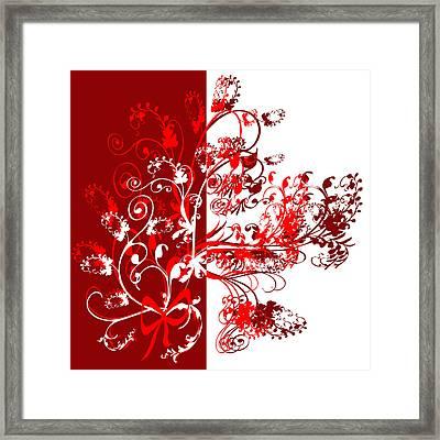 Red Swirl Framed Print by Svetlana Sewell