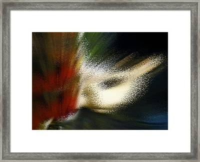 Red Symphony Abstract Framed Print
