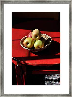 Red Table Apple Still Life Framed Print