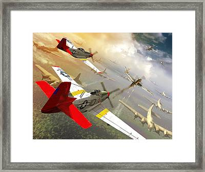 Red Tail Escort  Framed Print