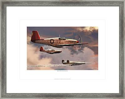 Red-tailed Angels Tuskegee Airmen P-51c Mustang Framed Print by Craig Tinder