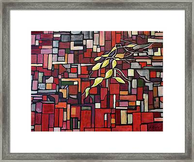 Framed Print featuring the painting Red Tango by Joanne Smoley