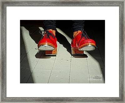 Red Tap Shoes Framed Print