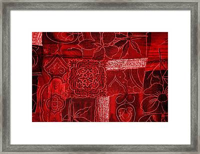 Red Tapestry Framed Print by Billy Soden