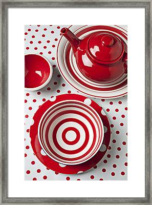 Red Teapot Framed Print