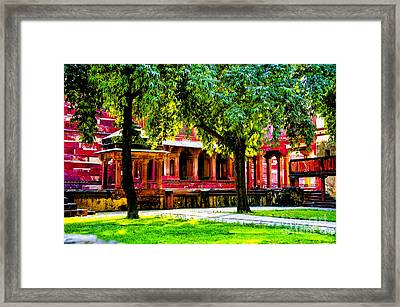 Red  Temple Framed Print