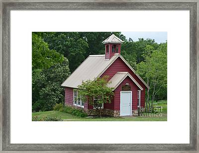 Red Texas School Framed Print by Ruth Housley