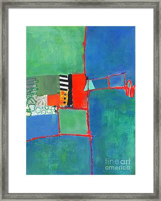 Framed Print featuring the mixed media Red Thread by Elena Nosyreva