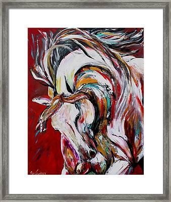 Red Thunder Framed Print by Cher Devereaux
