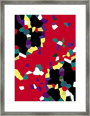 Red Tiles Framed Print