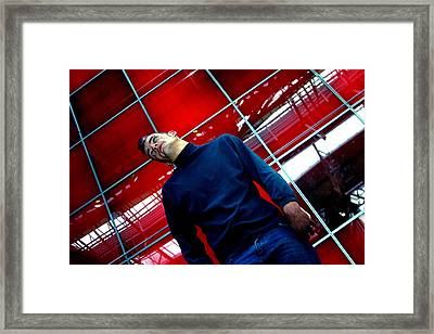 Red Tilt Framed Print by Jez C Self
