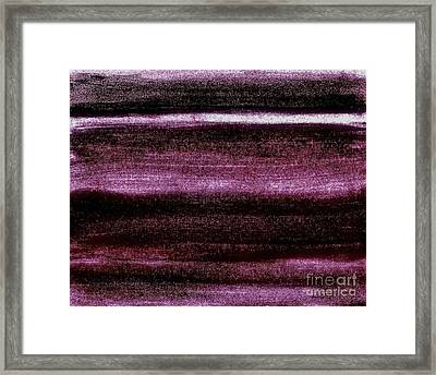 Red To Black Framed Print by Marsha Heiken