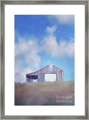 Red Tobacco Barn  Framed Print