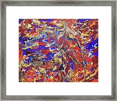 Red Toenails Framed Print