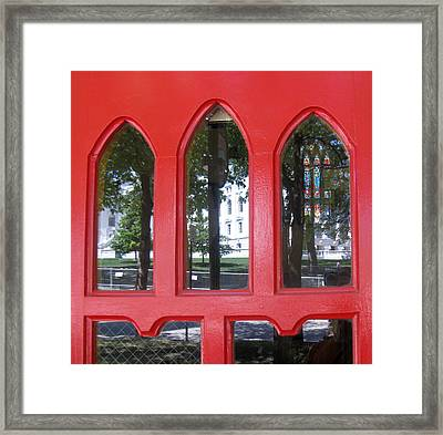Red Framed Print by Tom Hefko