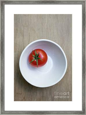 Red Tomato White Bowl Framed Print