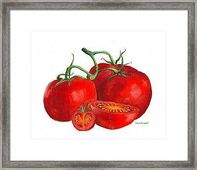 Red Tomatoes Framed Print by Nan Wright