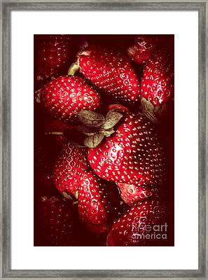 Red Toned Strawberries  Framed Print by Jorgo Photography - Wall Art Gallery