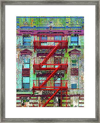 Framed Print featuring the mixed media Red by Tony Rubino