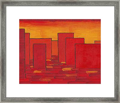 Red Town P1 Framed Print by Manuel Sueess