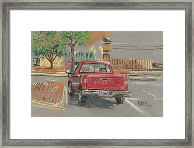 Red Toyota Framed Print