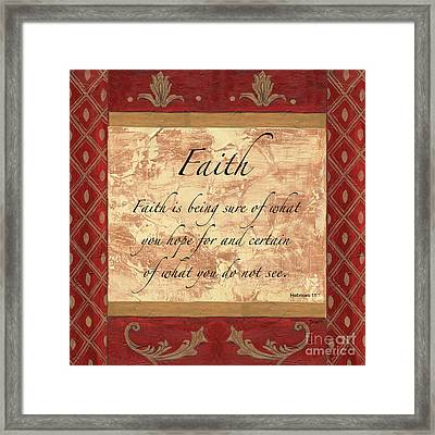 Red Traditional Faith Framed Print by Debbie DeWitt