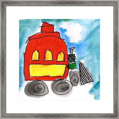 Red Train Framed Print