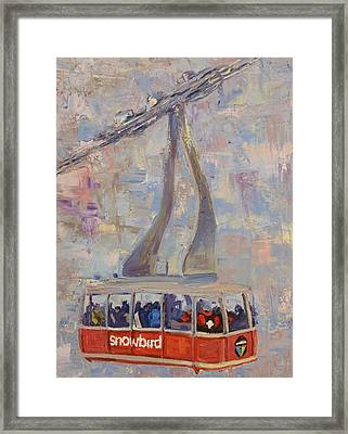 Red Tram Framed Print by Paul Winter