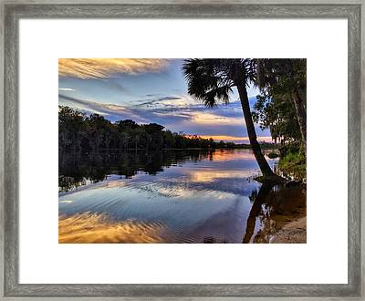 Red Tranquility  Framed Print