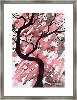 Red Tree Enchantment Framed Print