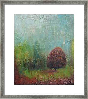 Red Tree  Framed Print by Joya Paul