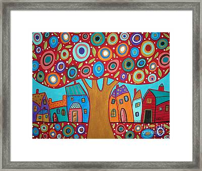 Red Tree Framed Print by Karla Gerard